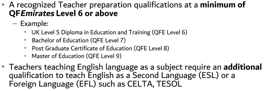 Teachers license dubai uae training platform for teachers teacher preparation qualification altavistaventures Gallery